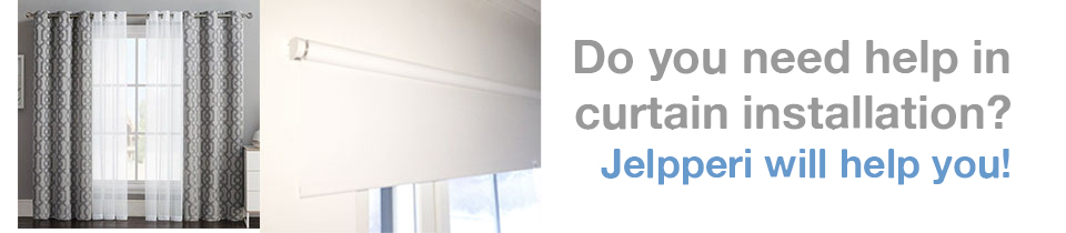 JelpperiTM Curtain Installation Services